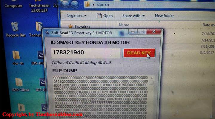 Phần mềm dò mã ID Smartkey