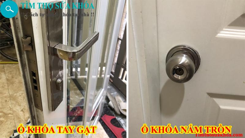 Thợ sửa khóa cửa nắm tròn và tay gat tại nhà