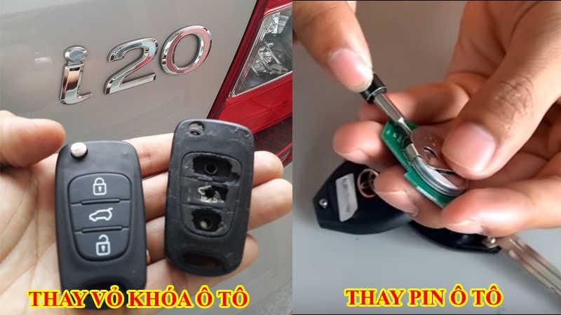 thay pin chìa khóa ô tô