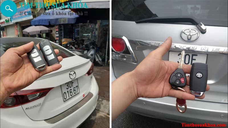 đánh chìa khóa xe ô tô tại Hà Nội