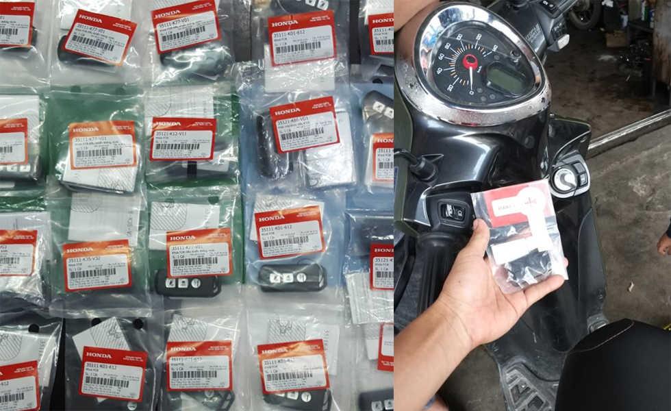 Đánh chìa khóa smartkey Yamaha Honda