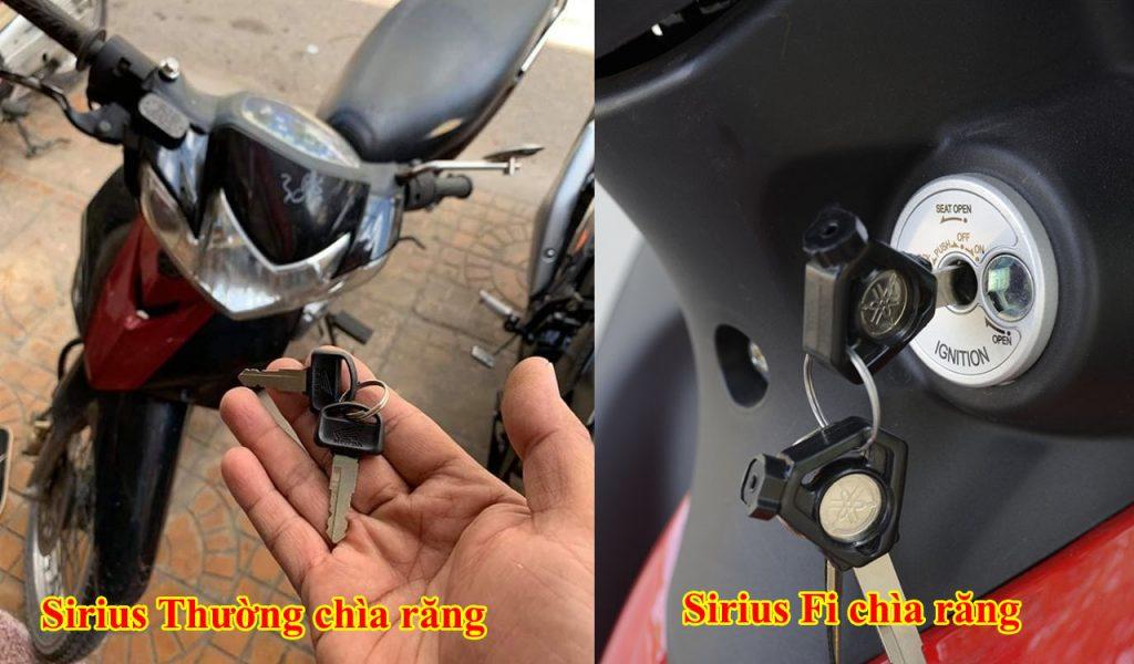 Đánh chìa khóa xe máy Yamaha Sirius
