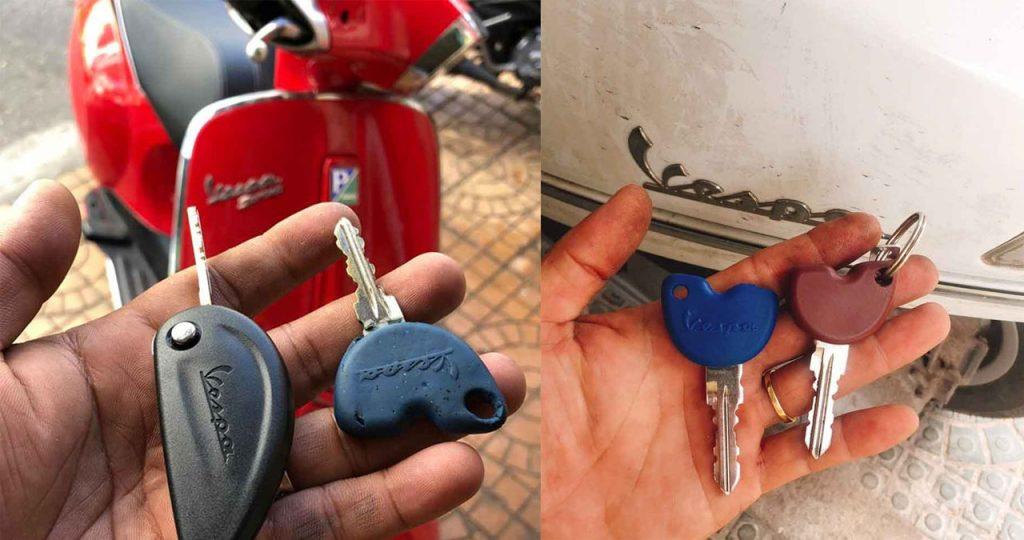 Đánh chìa khóa piaggio vespa